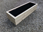 Cuboid Decking Planter 2000mm x 400mm 2 Tier