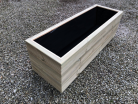 Cuboid Decking Planter 1200mm x 400mm 3 Tier