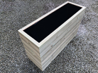 Cuboid Decking Planter 2000mm x 400mm 6 Tier