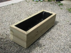 Cuboid Decking Planter 1800mm x 300mm 2 Tier