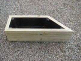 Angled Cuboid Decking Planter Right Hand