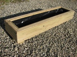 Cuboid Decking Planter 1500mm x 300mm 1 Tier