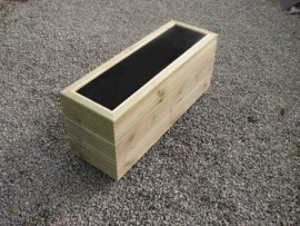 Cuboid Decking Planter 1000mm x 300mm 3 Tier