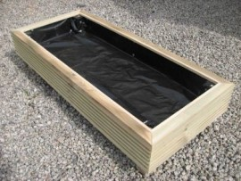 Cuboid Decking Planter 1300mm x 500mm 1 Tier