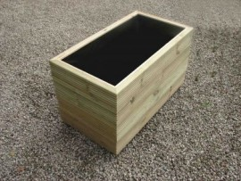 Cuboid Decking Planter 2000mm x 500mm 4 Tier