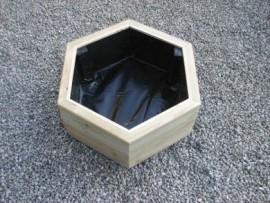 Hex Decking Planter 1000mm x 1000mm 2 Tier