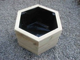 Hex Decking Planter 800mm x 800mm 3 Tier