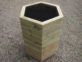 Hex Decking Planter 800mm x 800mm 6 Tier