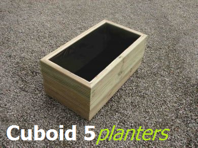 View Cuboid 500mm wide wooden planters.
