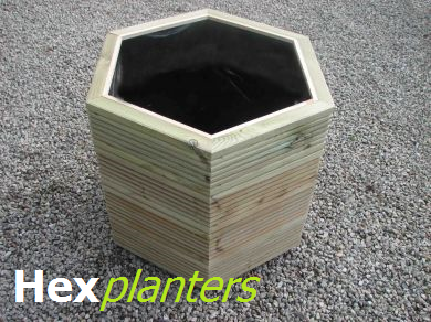 View Hexagonal Wooden Planters.